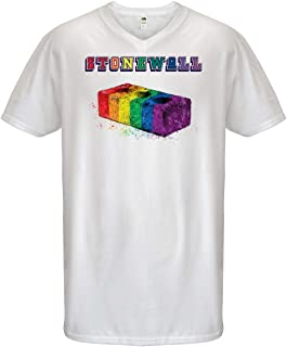 Stonewall Inn Rainbow Brick Men's V-Neck T-Shirt