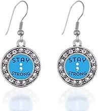 semicolon earring set