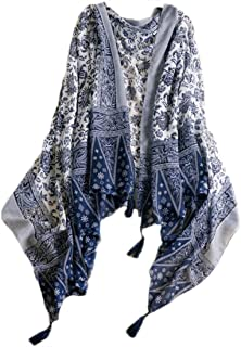 Cotton Scarf Scarves Cape Wrap Headscarf Lightweight Sunscreen Shawls for Women