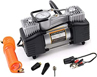Skyzone Double Cylinder Metal 12 V Car Air Compressor High Pressure Car Tire Pump Vehicle Pumping Machine Electric Air Pump
