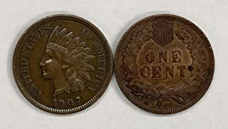 1907 P Indian Head Penny 1c XF - About Uncirculated