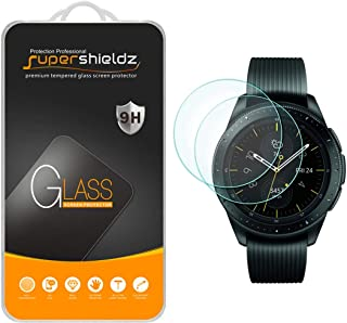 (2 Pack) Supershieldz for Samsung Galaxy Watch (42mm) Tempered Glass Screen Protector, Anti Scratch, Bubble Free