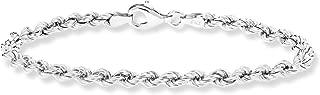 Best rope bracelet silver Reviews