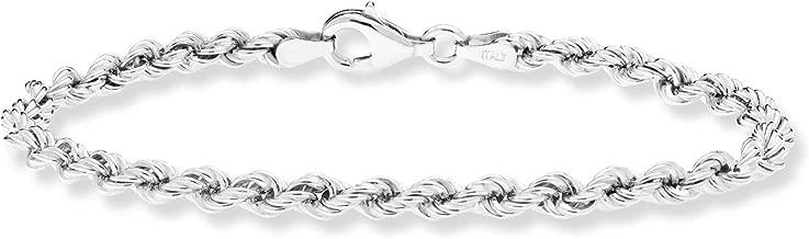 Best sterling silver twisted rope bracelet Reviews