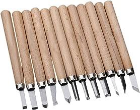 12 piezas de imitaci/ón de caoba grabado en madera cuchillo Scorper cortador de mano profesional talla de madera cincel mini herramientas de carpinter/ía