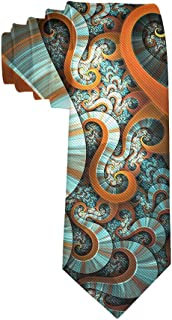 Casual Men's Tie Necktie Gift, Retro Octopus Design Skinny Long Ties for Trade Meeting Conference