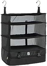 HXSD Portable Travel Storage Bag Hook Hanging Organizer Wardrobe Clothes Storage Rack Holder Travel Suitcase Shelves (Size...