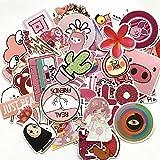 50pcs Pink Cartoon Cute Rilakkuma Mix Laptop Sticker for Kids Toys Cars Phone Laptop Bicycle