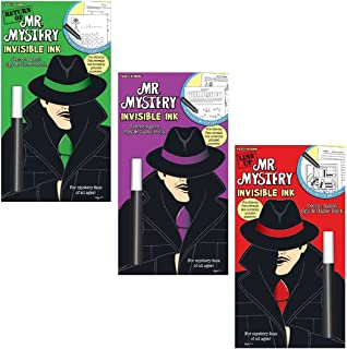 Mr. Mystery Invisible Ink Trivia & Game Activity Books Gift Set Bundle (3 Pack)
