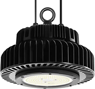 Adiding LED High Bay Lighting, 200W (800W HID/HPS Equivalent) UFO High Bay Workshop Light 5000K 130 Lm/W Lumileds LED Chips 26000 Lumens Dimmable MeanWell Driver for Garage Warehouse DLC UL,Black