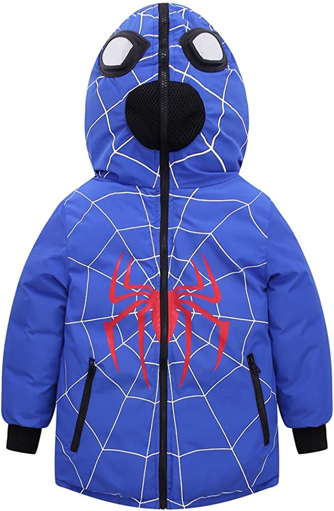 Plustrong Kids Boys low-pricing Spiderman Hooded Warm Choice Ja Coats Winter Puffer