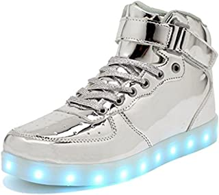 IGxx High Top LED Light Up Shoes LED Sneakers USB Recharging Shoes Glowing Luminous Flashing Shoes