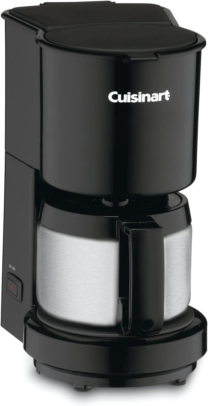 Cuisinart DCC-450BK 4-Cup Coffeemaker with Stainless-Steel Carafe, Black