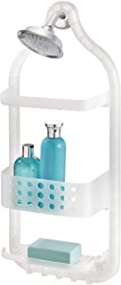 InterDesign Circlz Plastic Hanging Shower Caddy, Extra Space for Shampoo, Conditioner, and Soap with Hooks for Razors, Towels, Loofahs, and More 5
