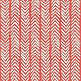 Canvas Biostoff Baumwollstoff Herringbone Rot Weiß Canvas