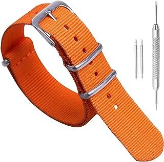 18mm 20mm 22mm 24mm Noir Vert Bleu Rouge Orange Beige Bracelet De Montre en Nylon Luxueux Durable Militaire Nylon Style OT...
