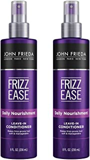John Frieda Frizz Ease Daily Nourishment Leave-in Conditioner, 8 Ounces (Pack of 2)