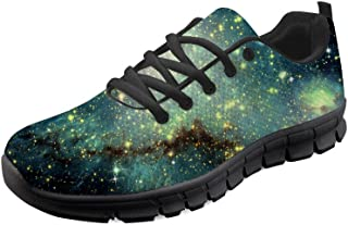 HUGS IDEA Women's Galaxy Fashion Sneakers Mesh Utra-Lightweight Athletic Running Shoes