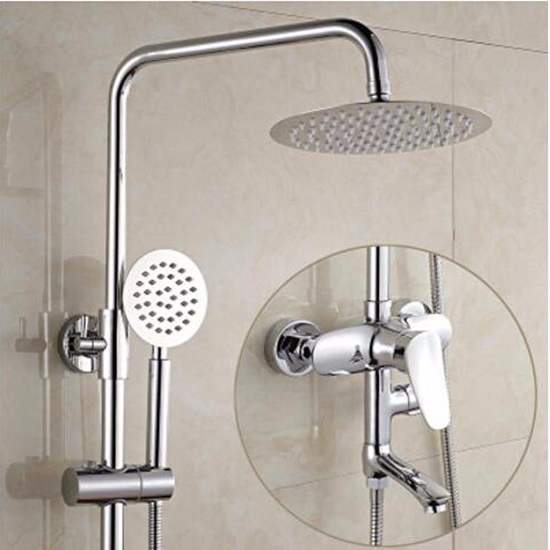ETERNAL QUALITY Badezimmer Waschbecken Wasserhahn Messing Hahn Waschraum Mischer Mischbatterie Die 3-Position Dusche Kit voll Kupfer Dusche Wasserhahn und Kaltes Wasser b