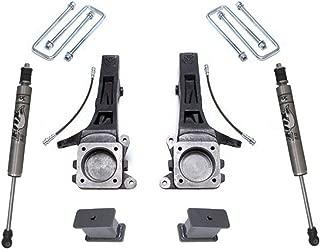 MaxTrac K886842F Suspension Lift Kit w/Shocks 4 in. Lift Incl. Front Spindles With Brake Lines/Rear Blocks/U-Bolts/Rear Fox Performance Shocks Suspension Lift Kit w/Shocks