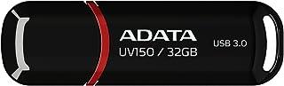 ADATA USBメモリ 32GB USB3.0 キャップ付 ブラック AUV150-32G-RBK