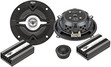 """Lanzar Vector 5.25"""" 2 Way Component Car Speaker System - 240 Watt Coaxial Audio Stereo Set with Mid-woofer, 1"""" Dome Tweete... photo"""