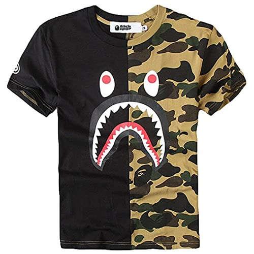 e4c9364b009f Juniors Casual Fashion Crewneck T Shirt Shark Camo Tees Tops for Teens