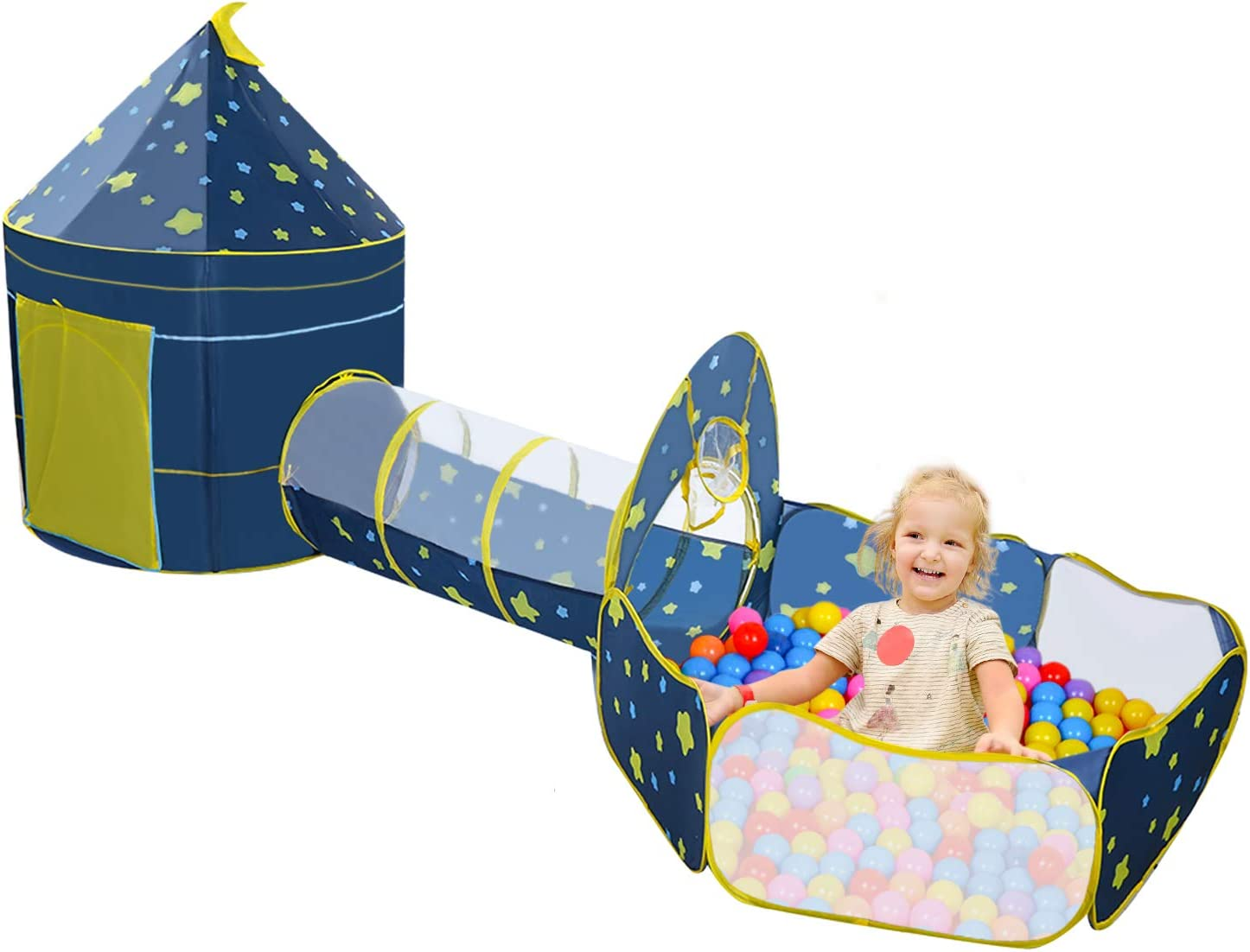 Childrens Play Tent with 割り引き Tunnel Playhouse Indoor 当店一番人気 Outdoor 3-Piece