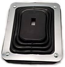 Hurst Style Rubber Shifter Boot with Chrome Plate 5 5/8