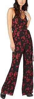Michael Michael Kors Womens Petites Eden Rose Printed Sleeveless Jumpsuit