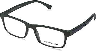 0c714a25b7 Emporio Armani 0EA3130 Monturas de gafas, Matte Dark Green, 53 para Hombre