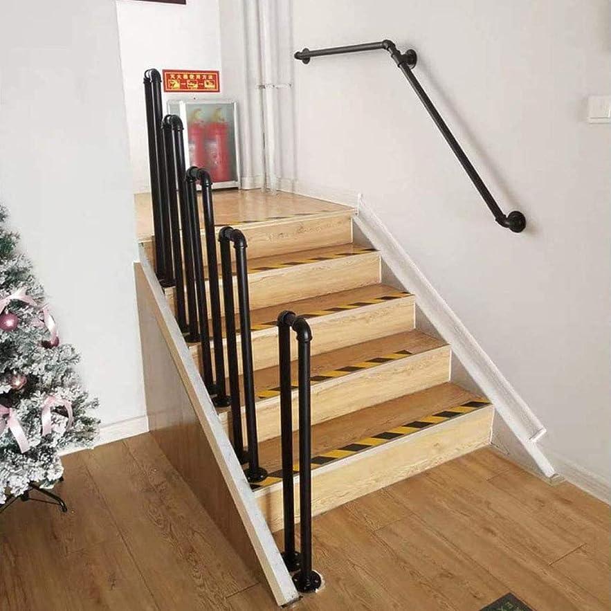 代表するプレミア弾力性のあるU字型錬鉄手すり、屋外階段階段手すり、つや消し黒錬鉄パイプ手すり、ヴィラガーデン廊下サポートバー階段手すり
