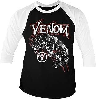 Marvel Officially Licensed Comics - Venom Baseball 3/4 Sleeve T-Shirt (Black-White)