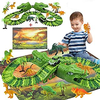 Tobeape® 154 Pieces Dinosaur Explorer Island Play Toys, Dinosaur World Discovery Expedition-Realistic Figures for Kids Bes...