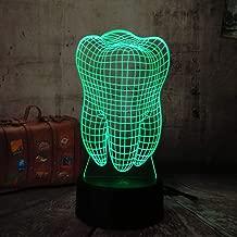 KangYD Zahn 3d z/ähne LED nachtlicht bunte zahnarzt dekoration schlafzimmer tischlampe geburtstag weihnachtsgeschenk LED nachtlichter usb touch 7 farbe//Kindergeschenk