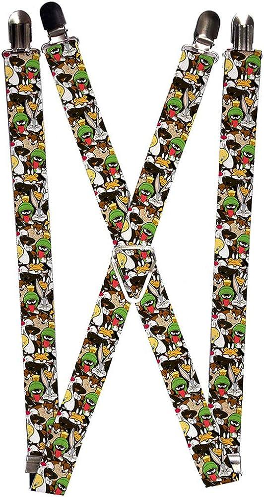 Buckle-Down Men's Suspender-Looney Tunes, 3.5