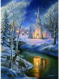 SUNSOUT INC O Holy Night - Christmas Church Winter Puzzle - 1500 pc Jigsaw Puzzle