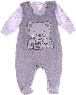 A&O Malgosia Baby Strampler Set Bär Nicki Stramplerhose & Shirt 50 56 62 68 74 Unisex