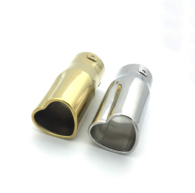 GFDGFDG Heart Shaped Universal Car Exhaust Muffler Tip Stainless Steel Pipe Chrome Exhaust Tail Muffler Tip Pipe
