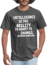 Spreadshirt Stephen Hawking Intelligence Definition Leetspeak Men's T-Shirt