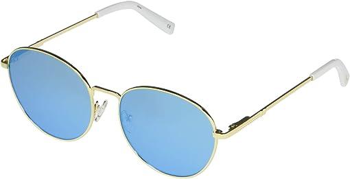 Bright Gold/Ice Blue Mirror