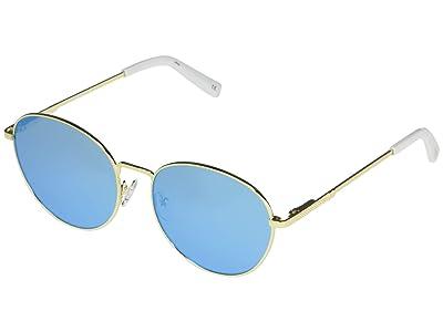 Le Specs Horus Alt Fit (Bright Gold/Ice Blue Mirror) Fashion Sunglasses