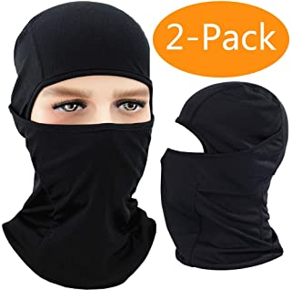 Balaclava Face Mask Men & Women, Black Adjustable Windproof Ski Mask, Breathable Moisture Wicking Tactical Balaclava, Summer Sun Hood for Outdoor Sports,Cycling,Motorcycle,Hiking,Skiing