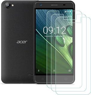 YZKJ 3 stycken pansarglas skyddsfolie för Acer Liquid Z6E, 9H hård ultra-klar härdat glas displayskyddsfolie, anti-olja hä...