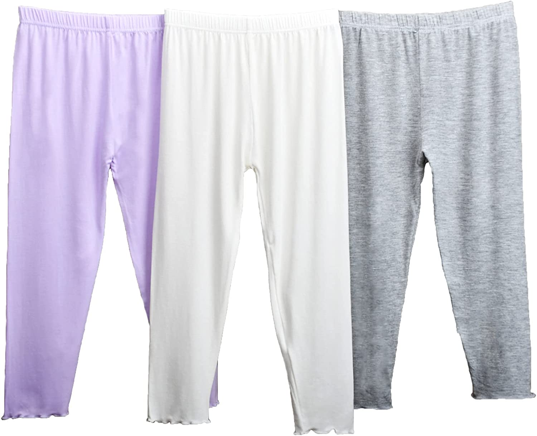 ZEROICHI Toddler Girls Capris Cropped Leggings Soft Breathable Pants for Kids
