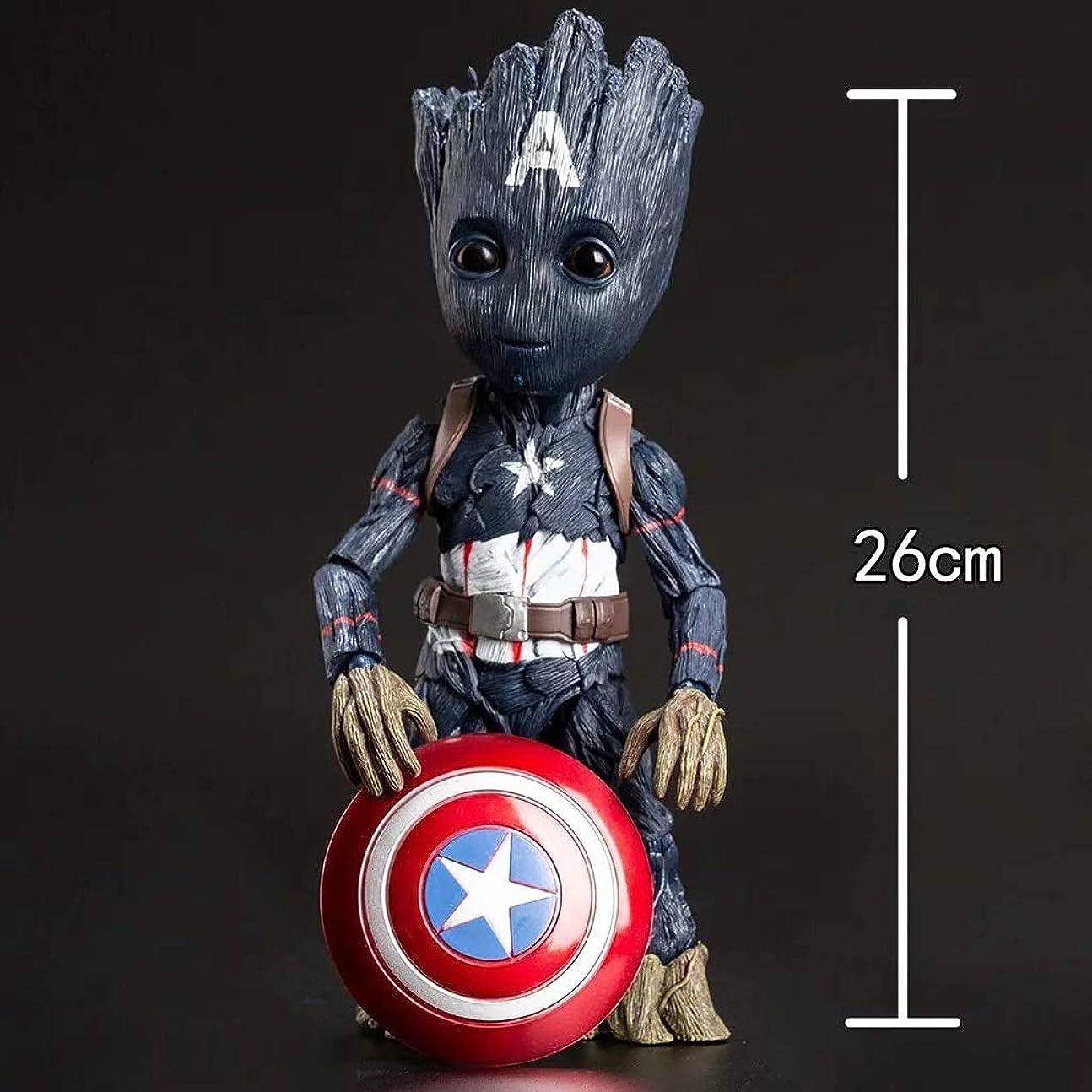 神社灌漑レタッチ映画モデル、PVC子供のおもちゃコレクションの彫像、デスクトップの装飾的なおもちゃの彫像のおもちゃのモデルのキャラクターの彫刻、シールドグラウト(26cm) JSFQ
