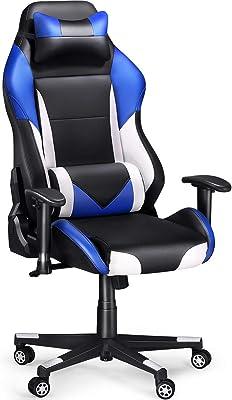 Con Lumbar Ergonomica Tectake De Racing Oficina Silla Gaming Soporte odBQxeCWr