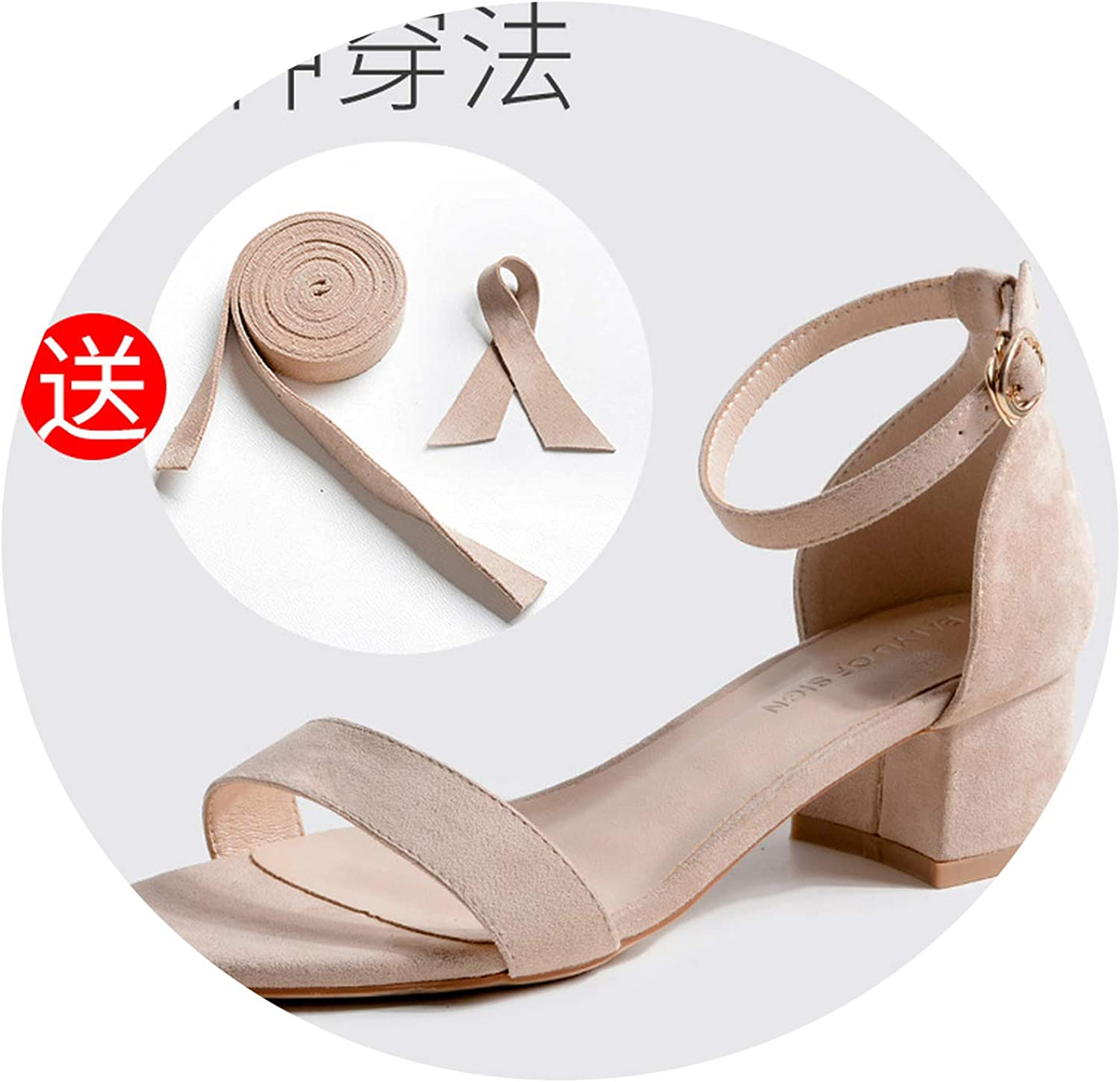 Sensitives 4 Ways wear bowknote Sandals Women Thick Heels lace up Summer shoes y487