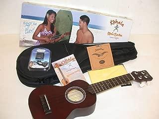 Kohala KO-S Kine'O Soprano Ukulele, Mahogany Body, Includes Matching Lanikai HSS611 Padded Gig Bag & CO-UT Tuner, EXTRA Set of Aquila 4U Nylgut Soprano Strings, Instruction Booklet & TMS Polishing Cloth