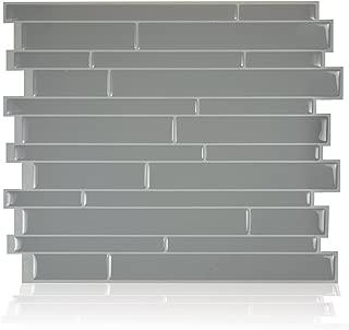 Smart Tiles Peel and Stick Backsplash and Wall Tile Milano Platino (Pack of 4)